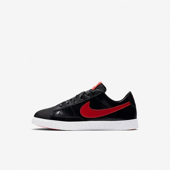 Nike Blazer Low QS Lifestyle Shoes Girls Black/Bleached Coral/Speed Red AO1034-001