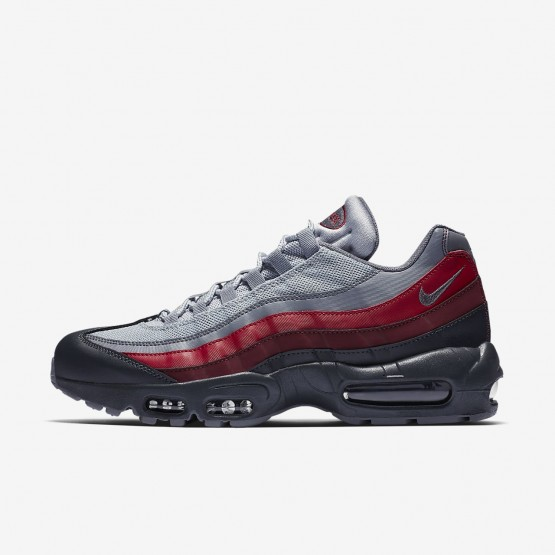 Nike Air Max 95 Essential Lifestyle Shoes Mens Anthracite/Wolf Grey/Team Red/Cool Grey 749766-025