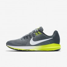 Nike Air Zoom Structure 21 Running Shoes Mens Cool Grey/Anthracite/Volt/White 904695-007