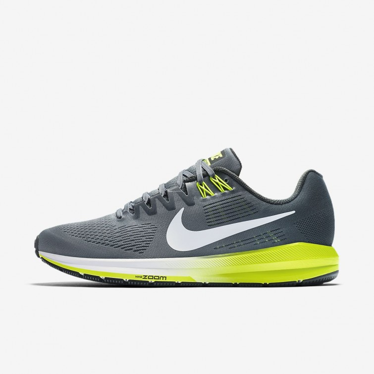 san francisco 07d47 f6441 Chaussure Running Nike Air Zoom Structure 21 Homme GriseBlanche 904695-007