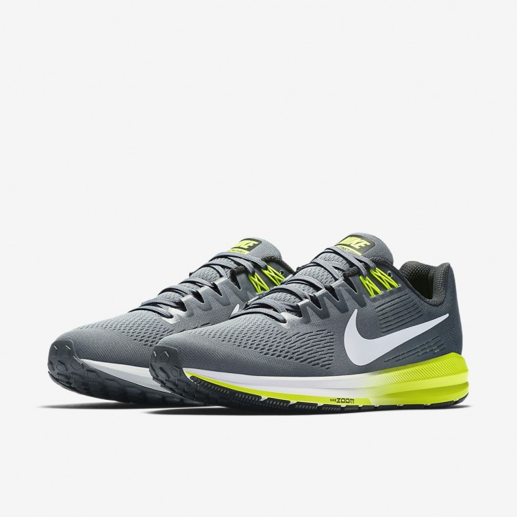 new product 5f0fb dc044 ... Chaussure Running Nike Air Zoom Structure 21 Homme GriseBlanche 904695 -007