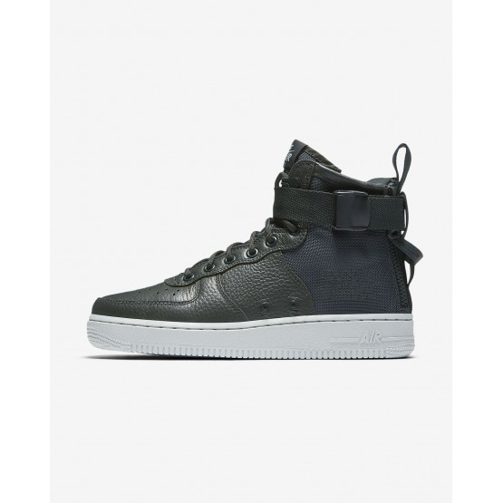 Nike SF Air Force 1 Mid Lifestyle Shoes Womens Outdoor Green/Light Pumice AA3966-300