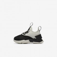 Nike Huarache Run Drift Lifestyle Shoes Girls Black/White/Sail AA3504-002