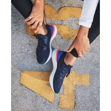Nike Epic React Flyknit Running Shoes For Women College Navy/Racer Blue/Pink Blast AQ0070-400