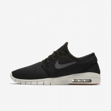 Nike SB Stefan Janoski Max Skateboarding Shoes Mens Black/Gum Medium Brown/Light Bone/Dark Grey 631303-020