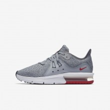 Nike Air Max Sequent 3 Running Shoes Boys Wolf Grey/Anthracite/Pure Platinum 922884-003