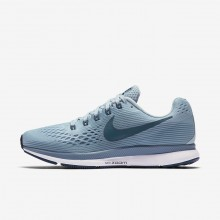 Nike Air Zoom Pegasus 34 Running Shoes Womens Ocean Bliss/Noise Aqua/Black/Blue Force 880560-408