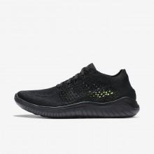 Nike Free RN Flyknit 2018 Running Shoes Womens Black/Anthracite 942839-002