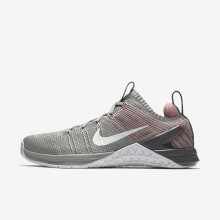 Nike Metcon DSX Flyknit 2 Training Shoes Womens Matte Silver/Rust Pink/Gunsmoke/White 924595-002