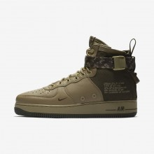 Chaussure Casual Nike SF Air Force 1 Mid Homme Vert Olive/Kaki 917753-201