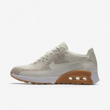Sapatilhas Casual Nike Air Max 90 Ultra 2.0 Flyknit Mulher Amarelas/Branco 881109-106