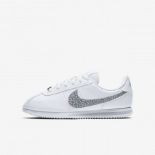 Nike Cortez Basic SL Lifestyle Shoes Girls White/Gunsmoke/Atmosphere Grey AH7528-100