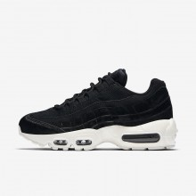 Nike Air Max 95 Lifestyle Shoes For Women Black/Dark Grey/Sail AA1103-001