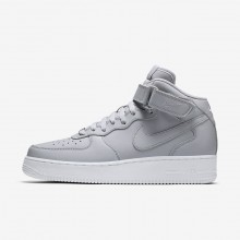 Nike Air Force 1 Mid 07 Lifestyle Shoes Mens Wolf Grey/White 315123-046