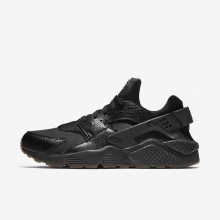 Nike Air Huarache Lifestyle Shoes For Men Black/Gum Medium Brown/Elemental Gold 318429-052