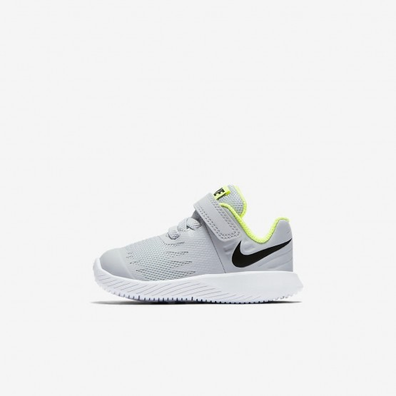 Nike Star Runner Running Shoes Girls Wolf Grey/Volt/White/Black 907255-002