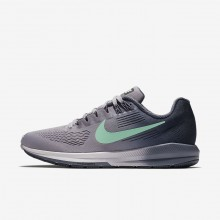 Nike Air Zoom Structure 21 Running Shoes Womens Provence Purple/Thunder Blue/Light Carbon/Green Glow 904701-503