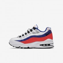 Nike Air Max 95 Lifestyle Shoes For Boys White/Solar Red/Ultramarine/Black 905348-103