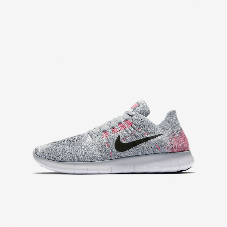 0d04c6a24160 Nike Free RN Flyknit 2017 Running Shoes Boys Wolf Grey Pure Platinum Cool  Grey