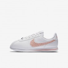 Nike Cortez Basic SL Lifestyle Shoes Girls White/Rust Pink/Coral Stardust AH7528-102