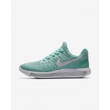 Chaussure Running Nike LunarEpic Low Flyknit 2 Femme Turquoise//Platine 863780-301