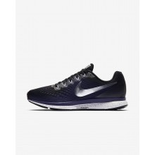 Nike Air Zoom Running Shoes For Women Black/Ink/Provence Purple/Metallic Silver 880560-015