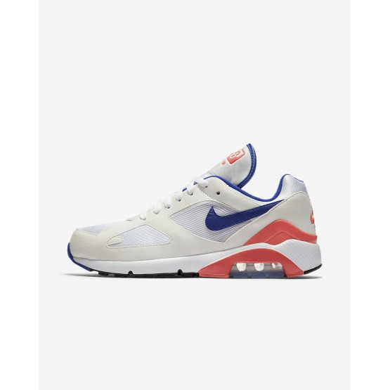 Nike Air Max 180 Lifestyle Shoes For Men White/Solar Red/Ultramarine 615287-100