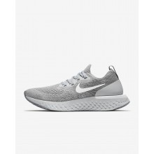 Nike Epic React Flyknit Running Shoes Womens Wolf Grey/Cool Grey/Pure Platinum/White AQ0070-002