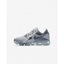 Nike Air VaporMax Running Shoes Boys Wolf Grey/Metallic Silver/Anthracite/Light Carbon 917963-006