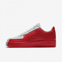 Nike Air Force 1 07 Premium Lifestyle Shoes Mens Barely Grey/Habanero Red 905345-005