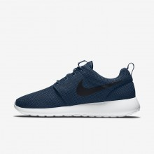 Chaussure Casual Nike Roshe One Homme Bleu Marine/Blanche/Noir 511881-405