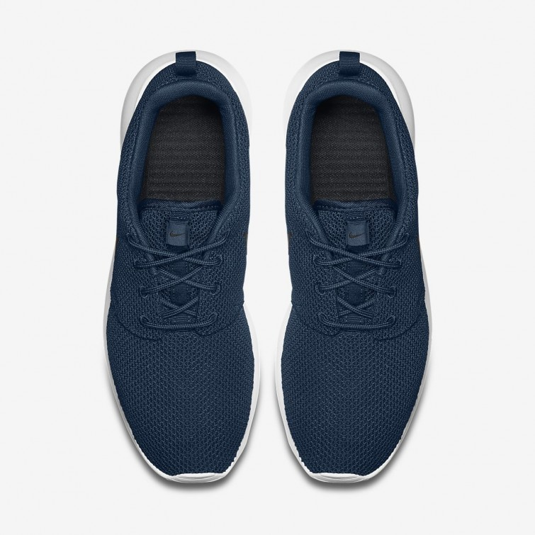 buy popular 3bf82 93e05 ... Chaussure Casual Nike Roshe One Homme Bleu Marine/Blanche/Noir 511881- 405 ...