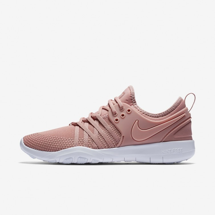 c19ac9cbce06 Nike Free TR7 Training Shoes Womens Rust Pink White Coral Stardust  904651-604