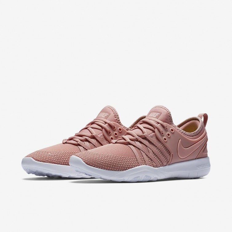 e40dfa7ea5ce ... Nike Free TR7 Training Shoes Womens Rust Pink White Coral Stardust  904651-604