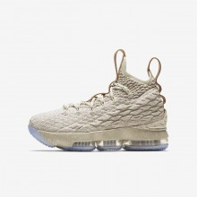 Nike LeBron 15 Basketball Shoes Boys String/Vachetta Tan/Sail 922811-200