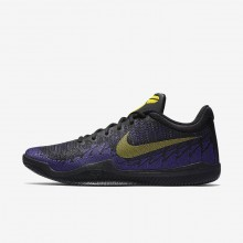 Nike Mamba Rage Basketball Shoes For Men Black/Court Purple/Tour Yellow 908972-024
