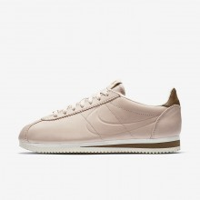 Nike x Maria Sharapova Classic Cortez LA Lifestyle Shoes Womens Particle Beige/Orange Quartz/Sail AR5696-202