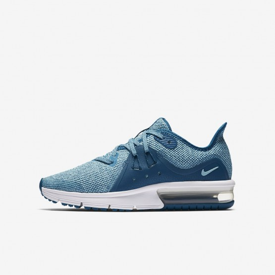 Chaussure Running Nike Air Max Sequent 3 Fille Vert/Blanche 922885-300