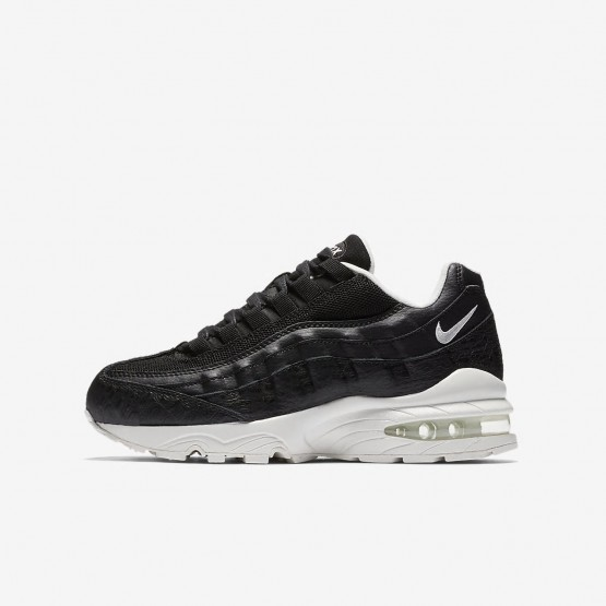 Nike Air Max 95 SE Lifestyle Shoes Boys Black/Summit White 922173-002