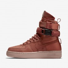 Nike SF Air Force 1 Lifestyle Shoes Womens Dusty Peach/Particle Pink 857872-202