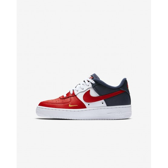 Nike Air Force 1 LV8 Lifestyle Shoes Boys University Red/Midnight Navy/University Gold 820438-603
