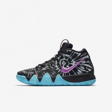 Nike Kyrie 4 Basketball Shoes For Boys Black/White AO1322-001