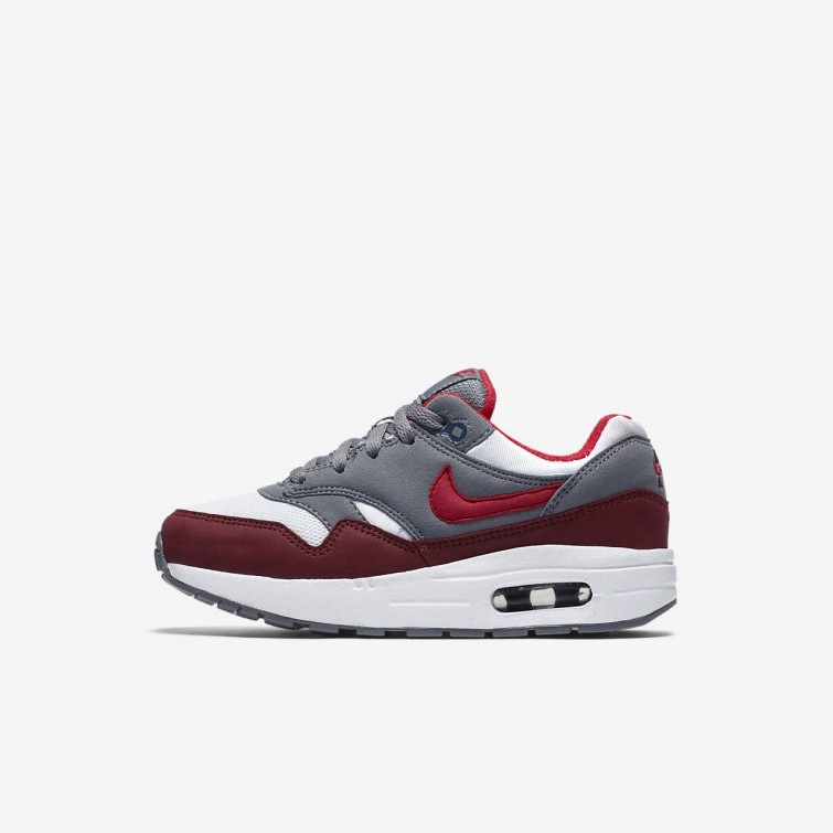 nike air max 1 rood wit grijs