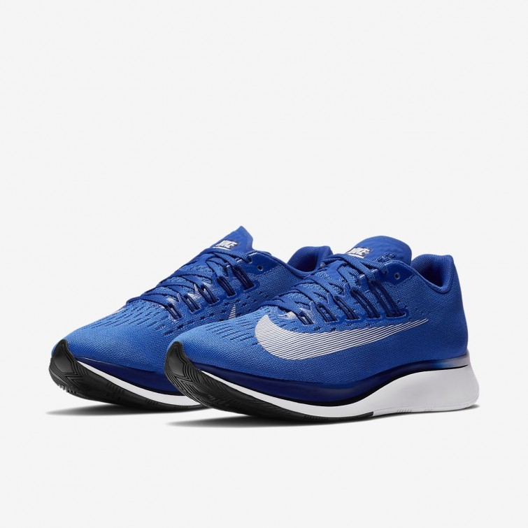 089cd8726faf2 ... Nike Zoom Fly Running Shoes Womens Hyper Royal Deep Royal  Blue Black White