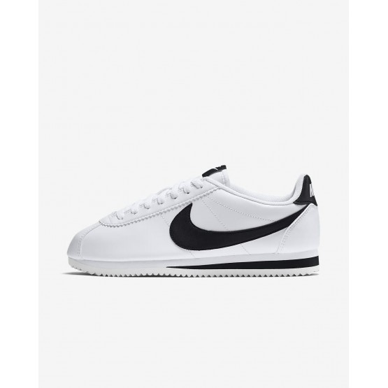 Nike Classic Cortez Lifestyle Shoes Womens White/Black 807471-101