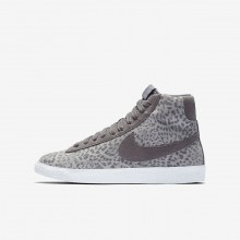 Chaussure Casual Nike Blazer Mid SE Fille Grise/Marron Clair/Blanche 902772-004
