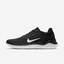 Nike Free RN 2018 Running Shoes Womens Black/White 942837-001