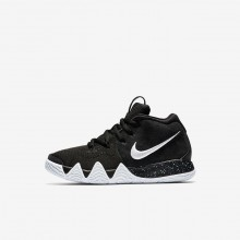 Nike Kyrie 4 Basketball Shoes For Girls Black/Anthracite/Light Racer Blue/White AA2898-002