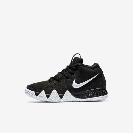 Nike Kyrie 4 Basketball Shoes Girls Black/Anthracite/Light Racer Blue/White AA2898-002