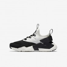 Nike Huarache Run Drift Lifestyle Shoes Boys Black/White/Sail 943344-002